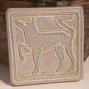 Vintage 2000 Pewabic Detroit egyptian style tile